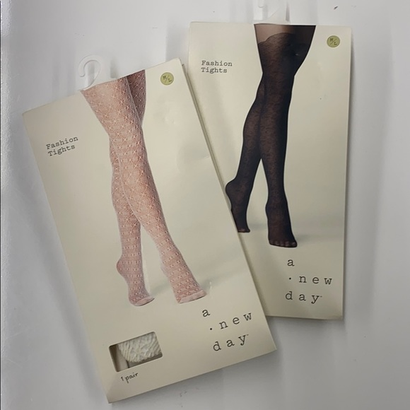 A new day fashion tights, 2 pairs M/L
